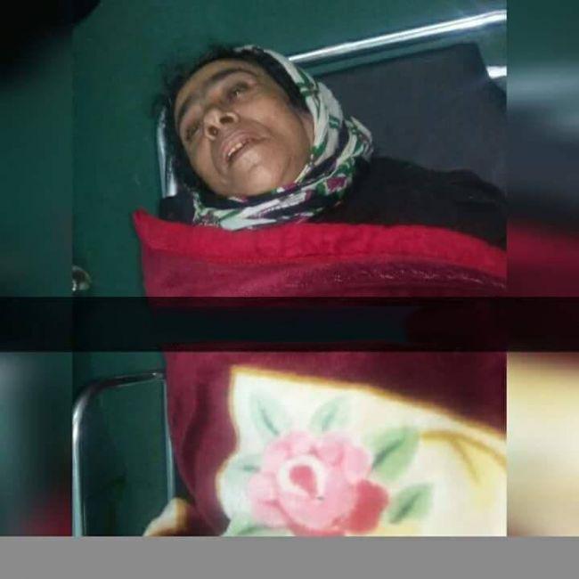 شاهد صورة زوجة مريضة ألقاها زوجها داخل أحد مستشفيات إب ثم لاذ بالفرار