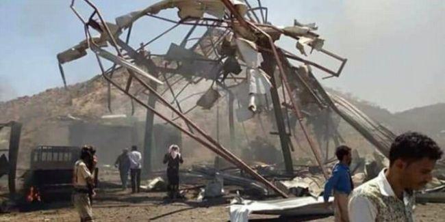 مقتل 8 مدنيين بغارة جوية لطيران التحالف بحبيل الذرية بتعز