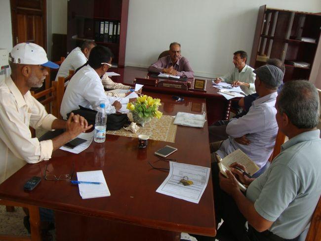 بحضور رئيس شعبة التعليم العام لقاء برؤساء اقسام التعليمة الاهلي والخاص في مديريات عدن