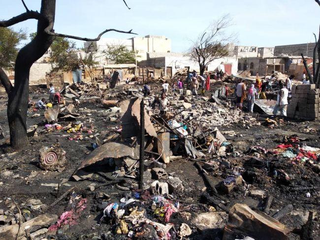 """تضرر 30 منزلاً في مديرية """"دار سعد"""" بعدن"""