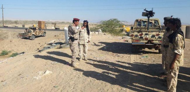 شبوة:  قيادة اللواء الثاني مشاة بحري تتفقد النقاط الأمنية في مديرية رضوم.