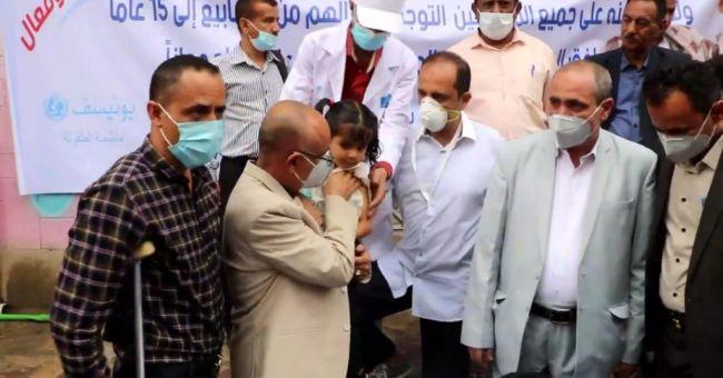 وكيل أول محافظة تعز يدشن  حملة  التحصين الواسعة  ضد مرض الدفتريا (الخناق)