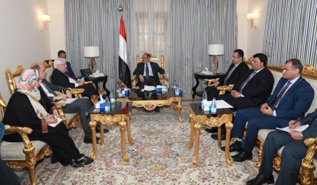 نيابة عن فخامة الرئيس هادي :  نائب رئيس الجمهورية يلتقي المبعوث الأممي إلى اليمن