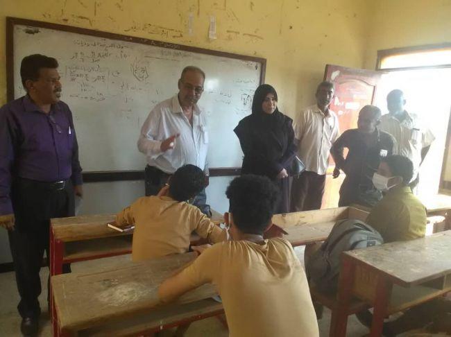 مكتب التربية عدن يدشن العام الدراسي الجاري في ثانوية لطفي